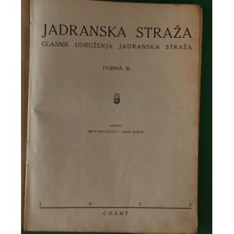 NIKO BARTULOVIĆ I JAKŠA RAVLIĆ : JADRANSKA STRAŽA ČASOPIS GODINA 1933.