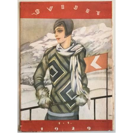 """STARI ČASOPIS """"SVIJET"""", KNJIGA VII. 1929, GODINA IV. BROJ 1"""