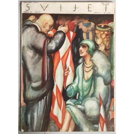 """STARI ČASOPIS """"SVIJET"""", KNJIGA VII. 1929, GODINA IV. BROJ 5"""