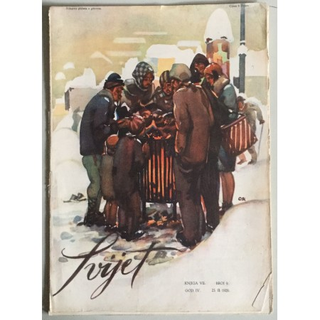 """STARI ČASOPIS """"SVIJET"""", KNJIGA VII. 1929, GODINA IV. BROJ 9"""