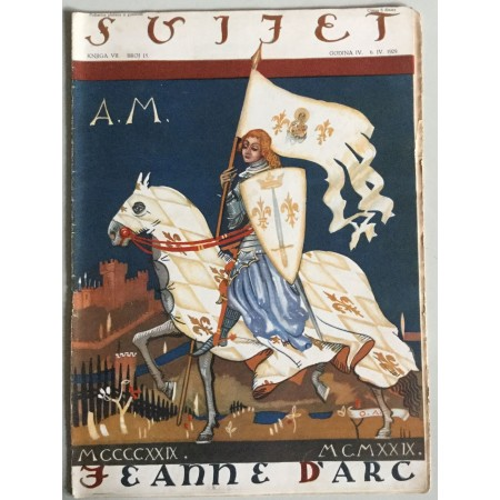 """STARI ČASOPIS """"SVIJET"""", KNJIGA VII. 1929, GODINA IV. BROJ 15, JEANNE D'ARC, A.M., IVANA ORLEANSKA"""