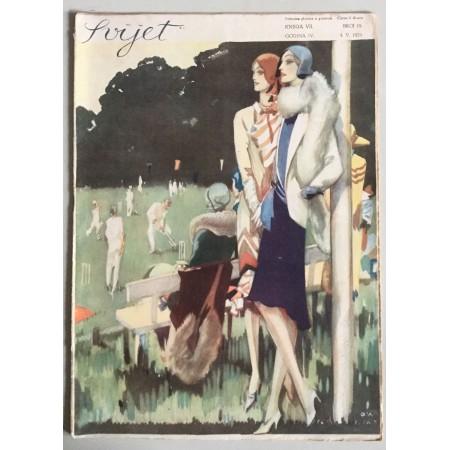 """STARI ČASOPIS """"SVIJET"""", KNJIGA VII. 1929, GODINA IV. BROJ 19"""