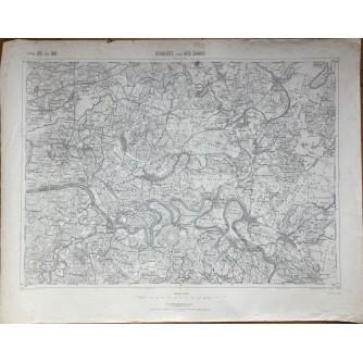 BOSNA I HERCEGOVINA, STARA ZEMLJOPISNA KARTA, GRADIŠTE I BOSANSKI ŠAMAC, 1889