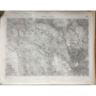 BOSNA I HERCEGOVINA, STARA ZEMLJOPISNA KARTA, GRBAVICA I GLAMOČ, 1916