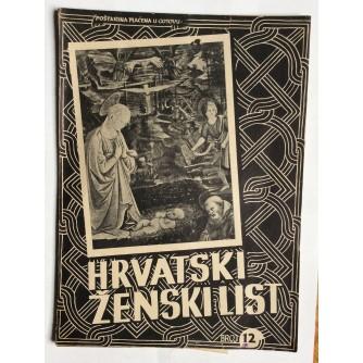 HRVATSKI ŽENSKI LIST, GODINA 4, 1942. BROJ 12,  ZAGREB