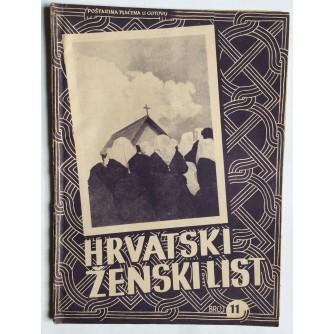 HRVATSKI ŽENSKI LIST, GODINA 4, 1942. BROJ 11,  ZAGREB