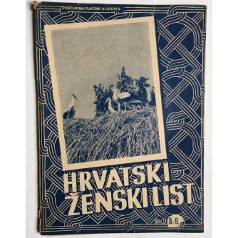 HRVATSKI ŽENSKI LIST, GODINA 4, 1942. BROJ 8-9,  ZAGREB