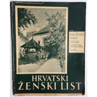 HRVATSKI ŽENSKI LIST, GODINA 2, 1940. BROJ 8,  ZAGREB