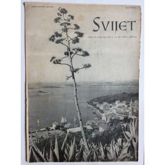 SVIJET, STARI ČASOPIS, GODINA XI, 1936. KNJIGA 22, BROJ 8