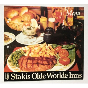 STAKIS, OLDE WORLDE INNS, GLASGOW, MENU