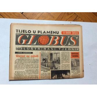 GLOBUS, STARI ČASOPIS, ILUSTRIRANI TJEDNIK, GODiNA 4 BROJ 160, 1957.