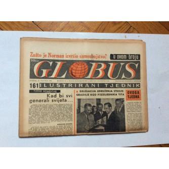 GLOBUS, STARI ČASOPIS, ILUSTRIRANI TJEDNIK, GODiNA 4 BROJ 161, 1957.