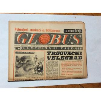 GLOBUS, STARI ČASOPIS, ILUSTRIRANI TJEDNIK, GODiNA 4 BROJ 162, 1957.