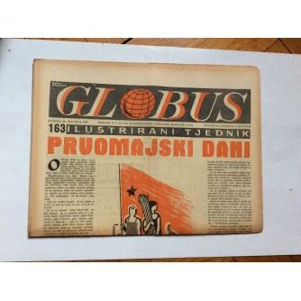 GLOBUS, STARI ČASOPIS, ILUSTRIRANI TJEDNIK, GODiNA 4 BROJ 163, 1957.