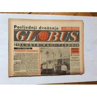 GLOBUS, STARI ČASOPIS, ILUSTRIRANI TJEDNIK, GODiNA 4 BROJ 165, 1957.