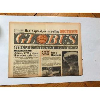 GLOBUS, STARI ČASOPIS, ILUSTRIRANI TJEDNIK, GODiNA 4 BROJ 169, 1957.