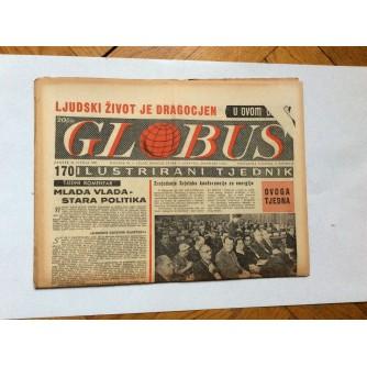 GLOBUS, STARI ČASOPIS, ILUSTRIRANI TJEDNIK, GODiNA 4 BROJ 170, 1957.