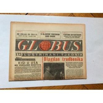 GLOBUS, STARI ČASOPIS, ILUSTRIRANI TJEDNIK, GODiNA 4 BROJ 172, 1957.