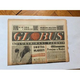 GLOBUS, STARI ČASOPIS, ILUSTRIRANI TJEDNIK, GODiNA 4 BROJ 174, 1957.