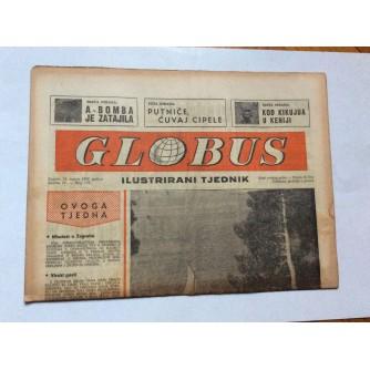 GLOBUS, STARI ČASOPIS, ILUSTRIRANI TJEDNIK, GODiNA 4 BROJ 175, 1957.