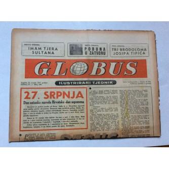 GLOBUS, STARI ČASOPIS, ILUSTRIRANI TJEDNIK, GODiNA 4 BROJ 176, 1957.