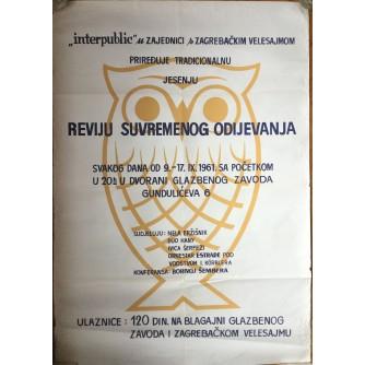 INTERPUBLIC, REVIJA SUVREMENOG ODIJEVANJA, ZAGREB, 1961