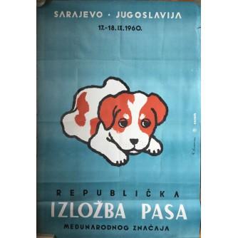 REPUBLIČKA IZLOŽBA PASA, SARAJEVO, JUGOSLAVIJA, 1960, H. DUKOVAC