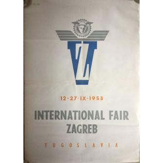 INTERNATIONAL FAIR ZAGREB, YUGOSLAVIA, 1953