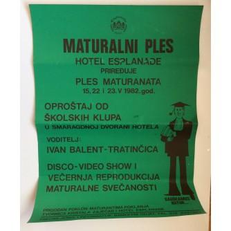 MATURALNI PLES, HOTEL ESPLANADE, OPROŠTAJ OD ŠKOLSKIH KLUPA, ZAGREB, 1982.