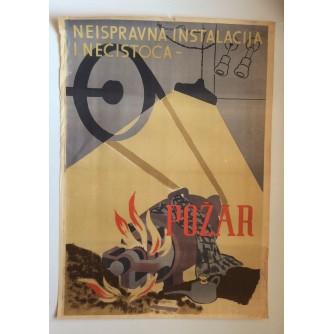 NEISPRAVNA INSTALACIJA I NEČISTOĆA-POŽAR, ZAGREB, 1949