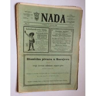NADA, ČASOPIS, 1897.  BROJ 18, BOSNA