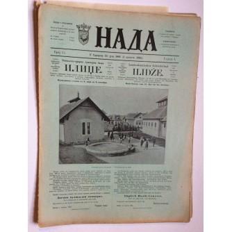 NADA, ČASOPIS, 1895 .BROJ 15, BOSNA