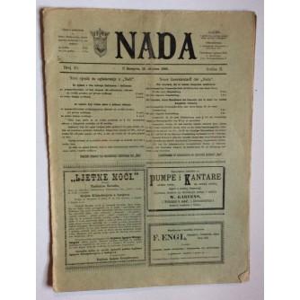 NADA, ČASOPIS, 1896 .BROJ 20, BOSNA
