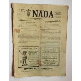 NADA, ČASOPIS, 1897 .BROJ 20, BOSNA