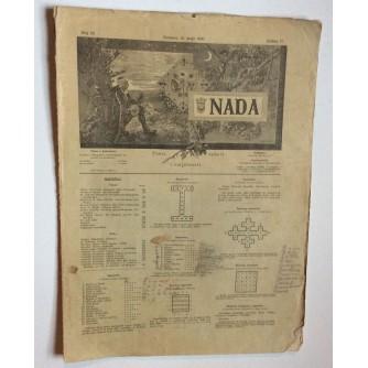 NADA, ČASOPIS, 1900 .BROJ 10, BOSNA