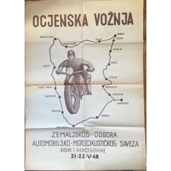 OCJENSKA VOŽNJA ZEMALJSKOG ODBORA AUTOMOBILSKO - MOTOCIKLISTIČKOG SAVEZA 1949, BOSNA I HERCEGOVINA