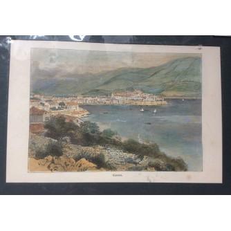 KORČULA, CURZOLA, HRVATSKA KOLORIRANA VEDUTA, BUDAPEST 1886-1901