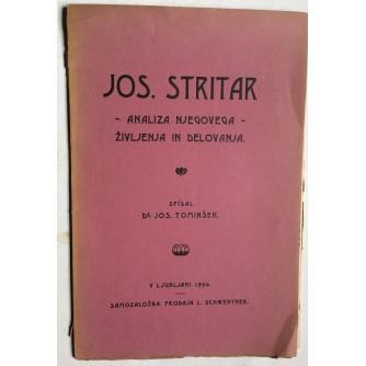 TOMINŠEK,  JOS.  STRITAR, ANALIZA NJEGOVEGA ŽIVLJENJA IN DELOVANJA, 1906.