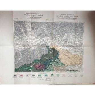 KRALJEVINA HRVATSKE I SLAVONIJE,  ZEMLJOPISNA KARTA,  VINICA I PTUJ,  71 x 56, 5  cm.