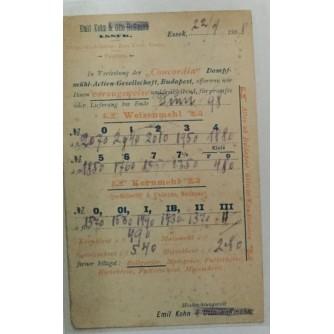 "OSIJEK HRVATSKA STARA RAZGLEDNICA 1898 ""CONCORDIA"" REKLAMNA DOPISNICA CJENIK EMIL KOHN & OTTO HOFFMANN"
