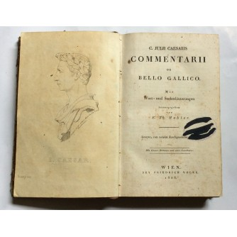 JULII CAESARIS, COMMENTARII DE BELLO GALLICO, WIEN, 1828.
