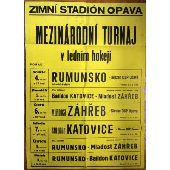 HOKEJ, MEDJUNARODNI TURNIR U OPAVI ČEŠKA, MLADOST ZAGREB, 1964.