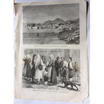 DUBROVNIK, NOVINSKA GRAFIKA, GAZZETTA ILLUSTRATA, ITALIJA, DRUGA POLOVINA 19.STOLJEĆA