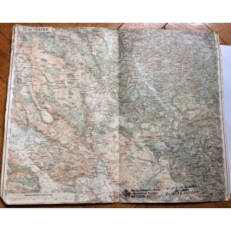 TRAVNIK, TOPOGRAFSKA KARTA, DO 1918.