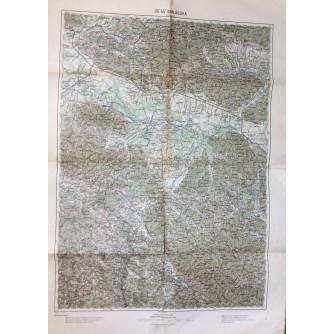 BANJA LUKA, TOPOGRAFSKA KARTA , 1901.