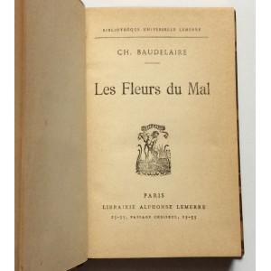 CHARLES BAUDELAIRE, LES FLEURS DU MAL, ALPHONSE LEMERRE,  PARIS