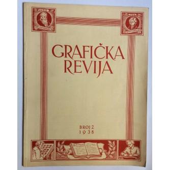 GRAFIČKA REVIJA, ČASOPIS ZA PROMICANJE GRAFIČKOG RADA, 1938.  BROJ 2