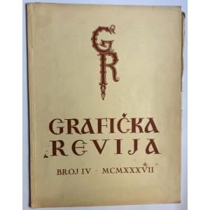 GRAFIČKA REVIJA, ČASOPIS ZA PROMICANJE GRAFIČKOG RADA, 1937.  BROJ 4