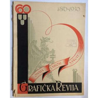 GRAFIČKA REVIJA, ČASOPIS ZA PROMICANJE GRAFIČKOG RADA, 1930.