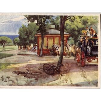 POLA PULA ISTRA HRVATSKA OTOK BRIONI , GOLF CLUB, GENOVA 1939.-XVII.  STARA RAZGLEDNICA